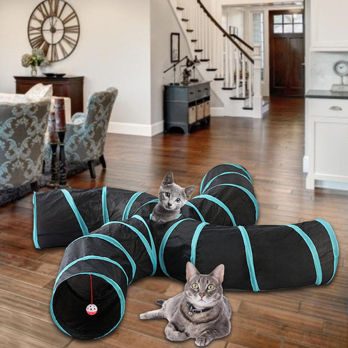 2/3/5 Holes foldable cat tunnel : the new cat hiding place 😻🏕🐈 - PupiPlace