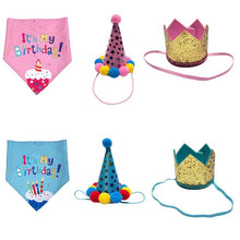 Load image into Gallery viewer, Festive Hats and Scarfs for cat/dog birthday party 😻🐶🎂🥳🎉🎊 - PupiPlace