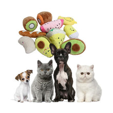 Carica l'immagine nel visualizzatore di Gallery, Fruit-Shaped cat/dog chew toys 🐶🐱🐾🍎🍊🍉🍍🍓🥝🥑 - PupiPlace