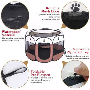 Octagonal portable dog fence 🐶🐾🐕‍🦺🎁🔐 - PupiPlace