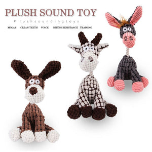Plush sound puppy toys in animals' shape 🐹🐰🐻🐒🦆🐓🦩🦓🦌🐐🦒🐾🐶 - PupiPlace