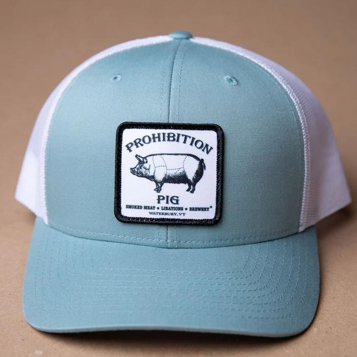 Prohibition White Patch Light Teal Mesh Snapback