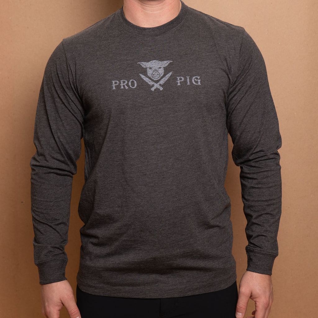 Pigs & Knives Dark Gray Long Sleeve T-shirt