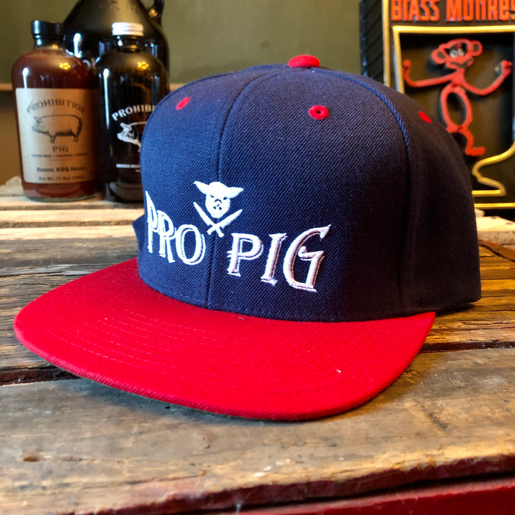 Pig & Knives Blue & Red Embroidered Cap