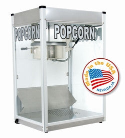 Paragon 1108710 8 Oz Stainless Steel Professional Series Popcorn Machine