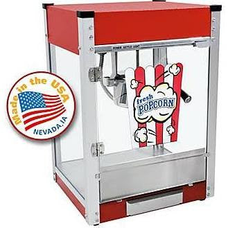 Paragon 1104800 Cineplex 4 oz Popcorn Machine Red