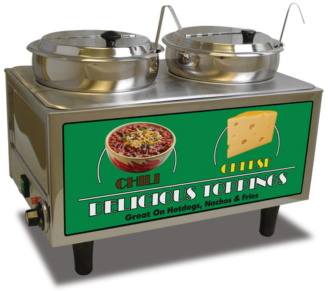 Benchmark USA 51072A Chili & Cheese Warmer 2 Ladles/Lids