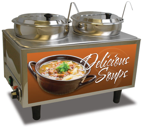 Benchmark 51072S Soup Station Warmer 2 Ladles/Lids