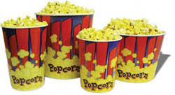 Benchmark 41430 130 Oz. Popcorn Tubs - 50/case