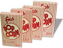 Benchmark USA 41574 2.30 oz Closed Top Popcorn Boxes 50/cs