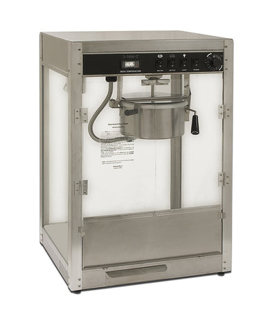 Benchmark 11147 14 oz Commercial Silver Professional Popcorn Machine