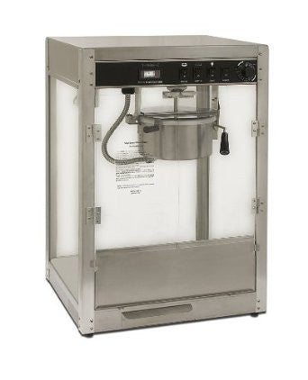 Benchmark 11087 8 oz Commercial Silver Professional Popcorn Machine