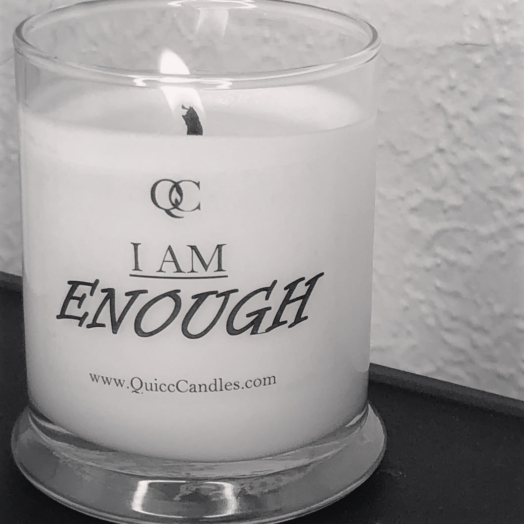 I am Enough Motivational Soy Candle