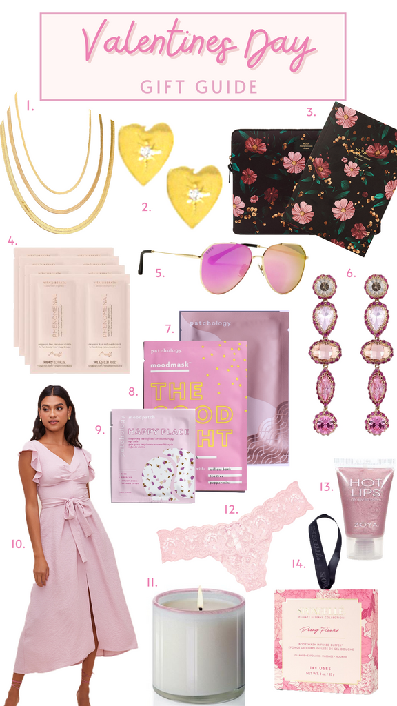 Valentines day gift guide by traveling chic boutique