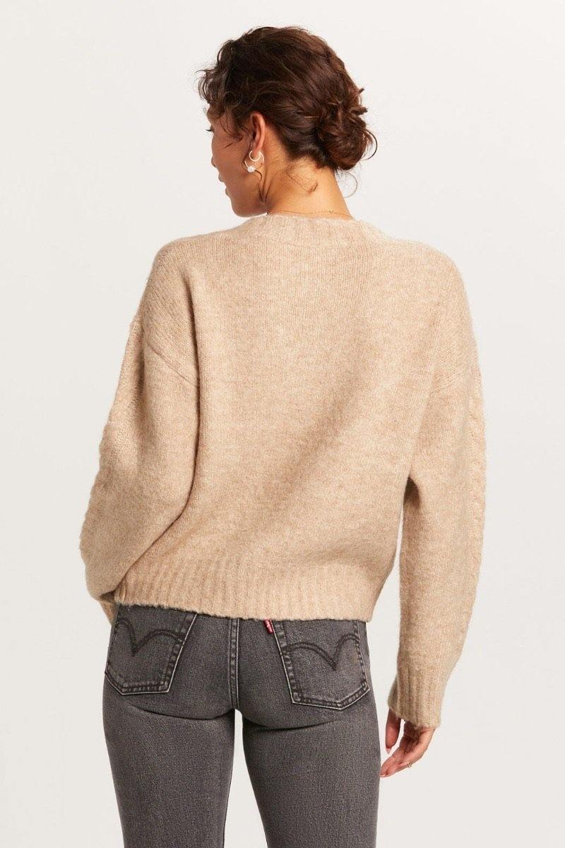 PomPom Cable Knit Sweater