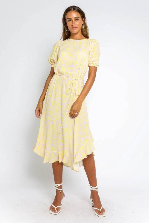 Maggie Belted Midi Dress - Traveling Chic Boutique, VA