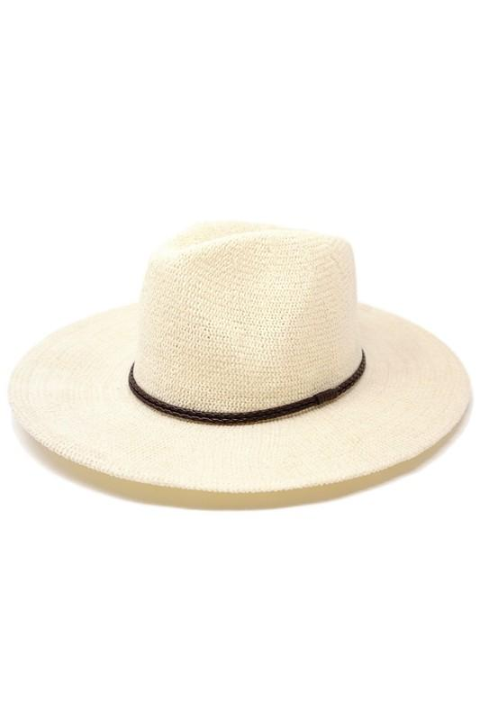 Colette Packable Fedora White - Traveling Chic Boutique, VA