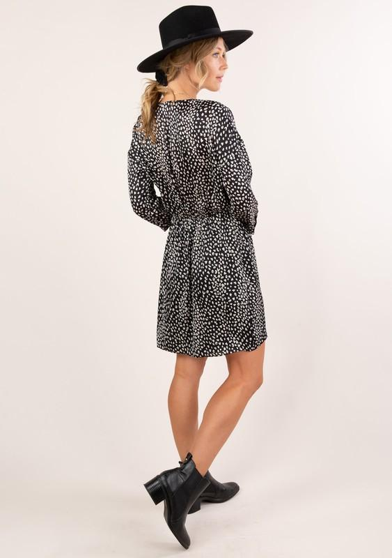 Leopard Print Wrap Mini Dress - Traveling Chic Boutique, VA