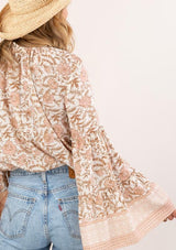 Floral Print Bell Sleeve Top
