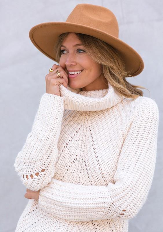 Cozy Oversized Turtle Neck Knit Sweater