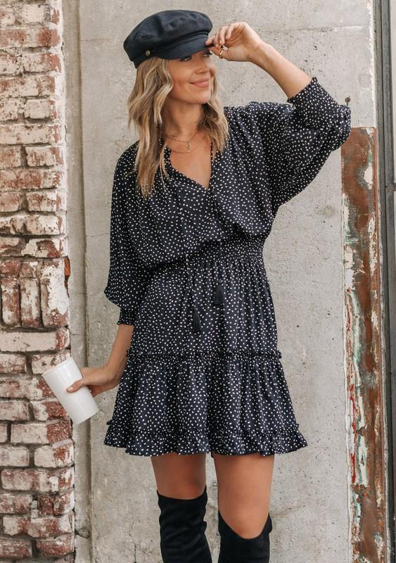 Dot Boho Mini Dress