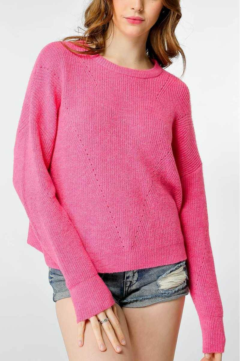 Pink Knit Sweater