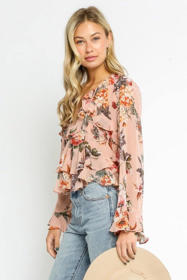 Blush Rose Ruffled Blouse