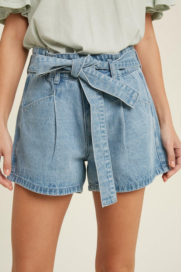 Clayton Belted Denim Shorts - Traveling Chic Boutique, VA