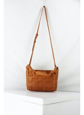Knotted Handle Tote in Brown - Traveling Chic Boutique, VA
