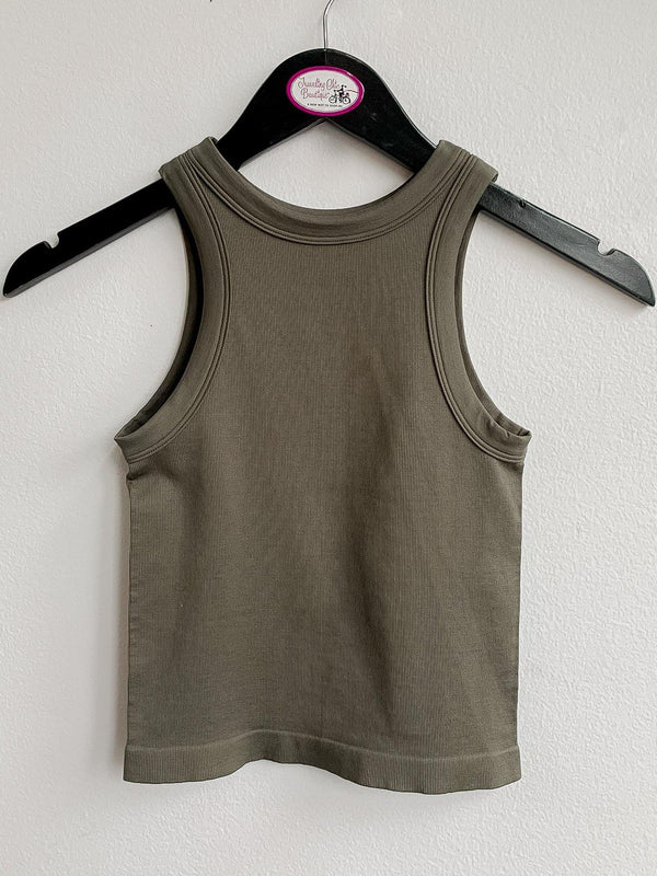 Racer Back Ribbed Tank