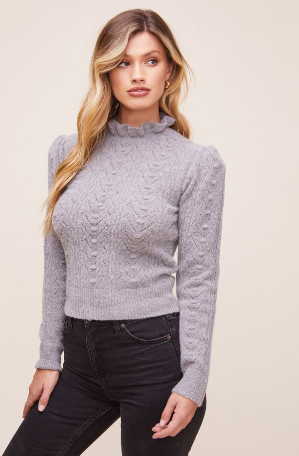 Sally Mock Neck Sweater - Traveling Chic Boutique, VA