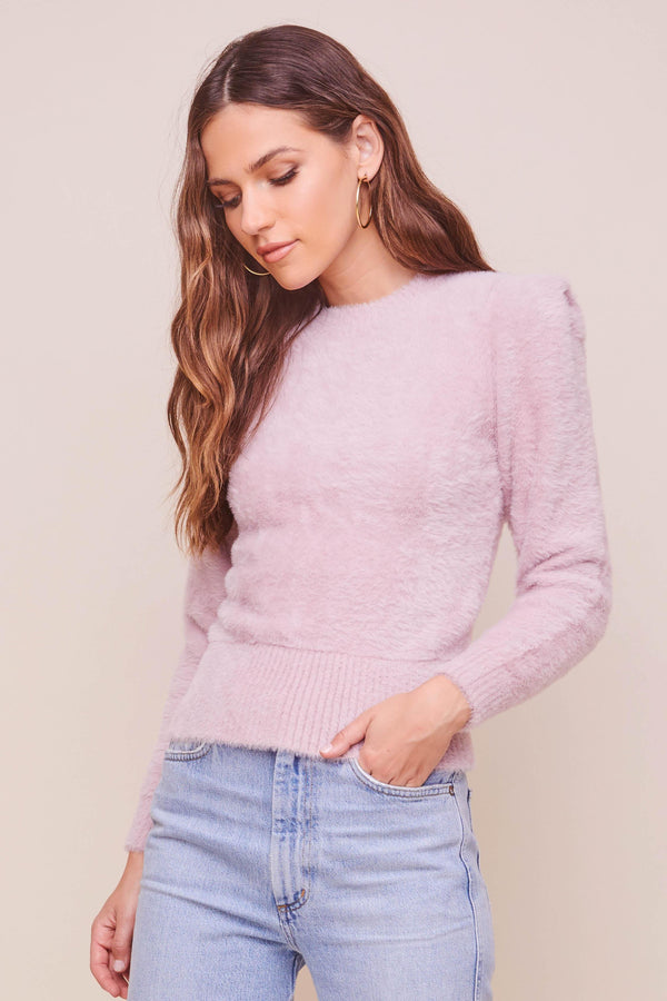 Caroline Fuzzy Knit Sweater