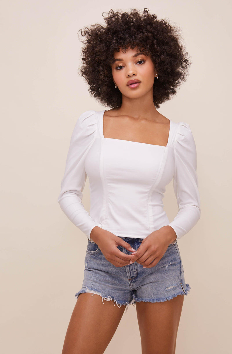 Noura Square Neck Top