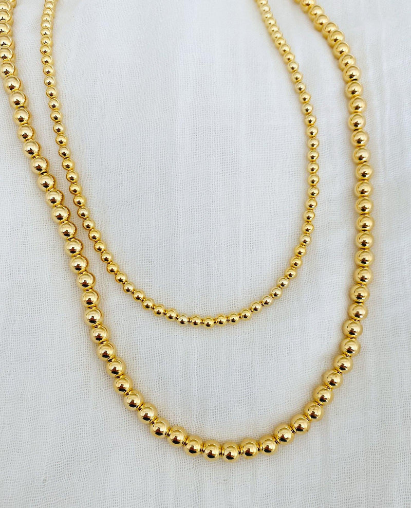 Gold Ball Necklace - Traveling Chic Boutique, VA
