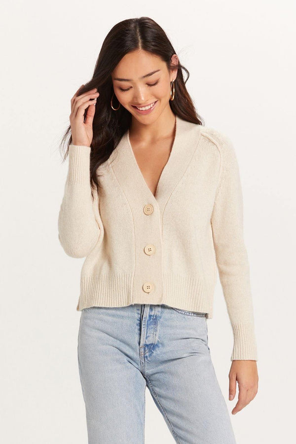 Cream Button Up Cardigan