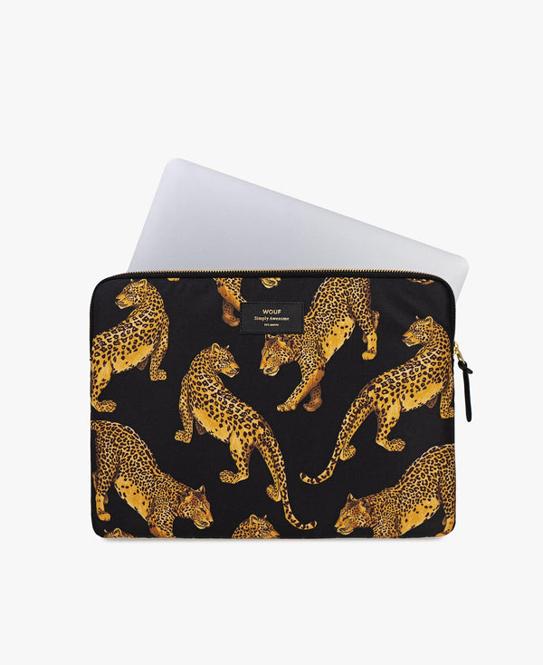 "13"" & 15"" Black Leopard Laptop Sleeve"