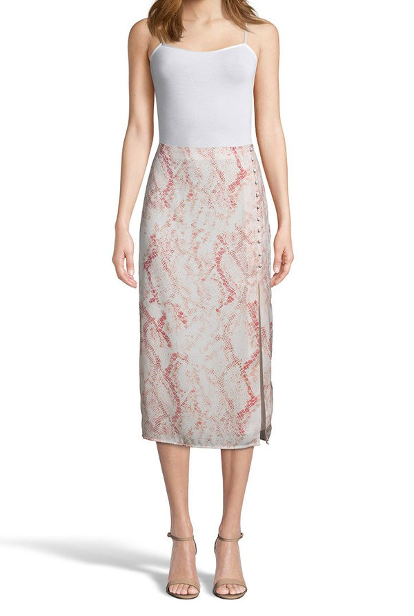 Blush Snakeskin Skirt - Traveling Chic Boutique, VA