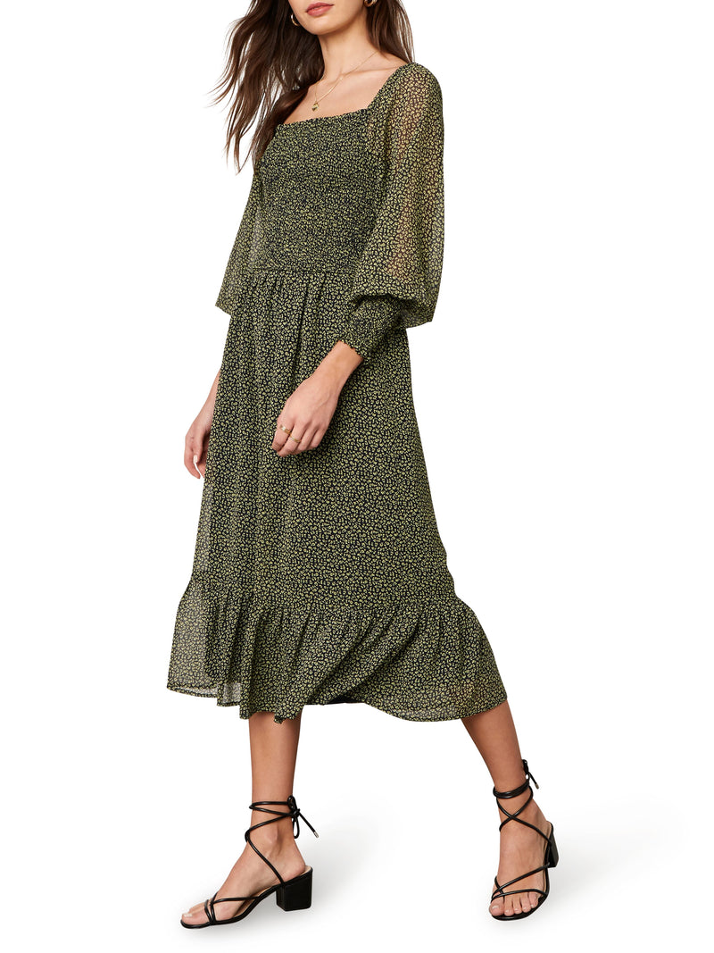 Demi Smocked Midi Dress