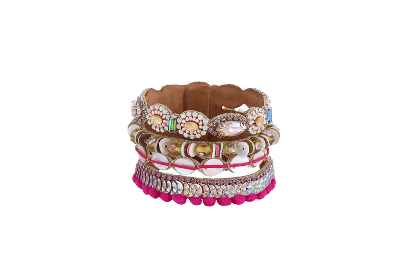 Pink Eila Cuff - Traveling Chic Boutique, VA