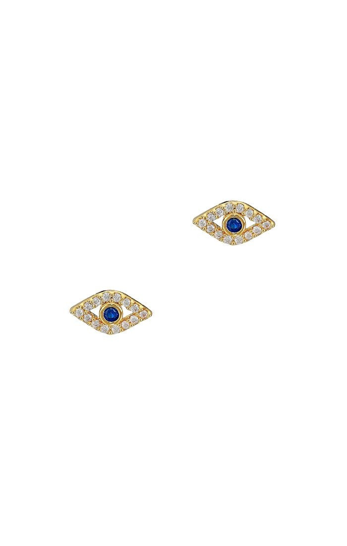 Mini Blue Evil Eye Studs