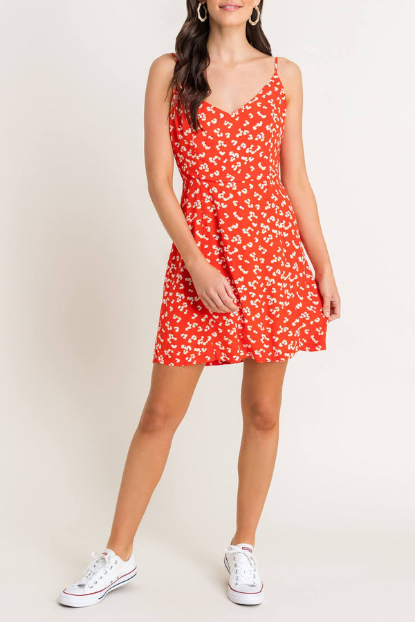 Coral Floral Dress