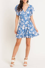 Flutter Sleeve Wrap Dress