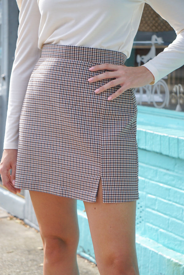 Check It Out Skirt - Traveling Chic Boutique, VA