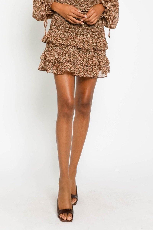 Terra Cotta Smocked Skirt