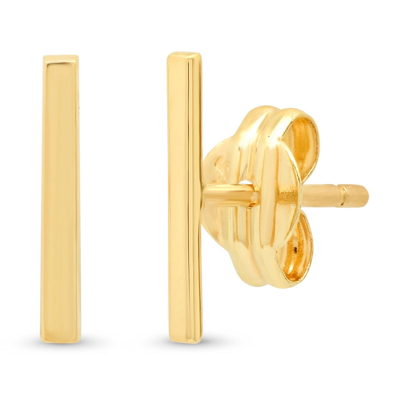 14k Gold Stick Studs - Traveling Chic Boutique, VA