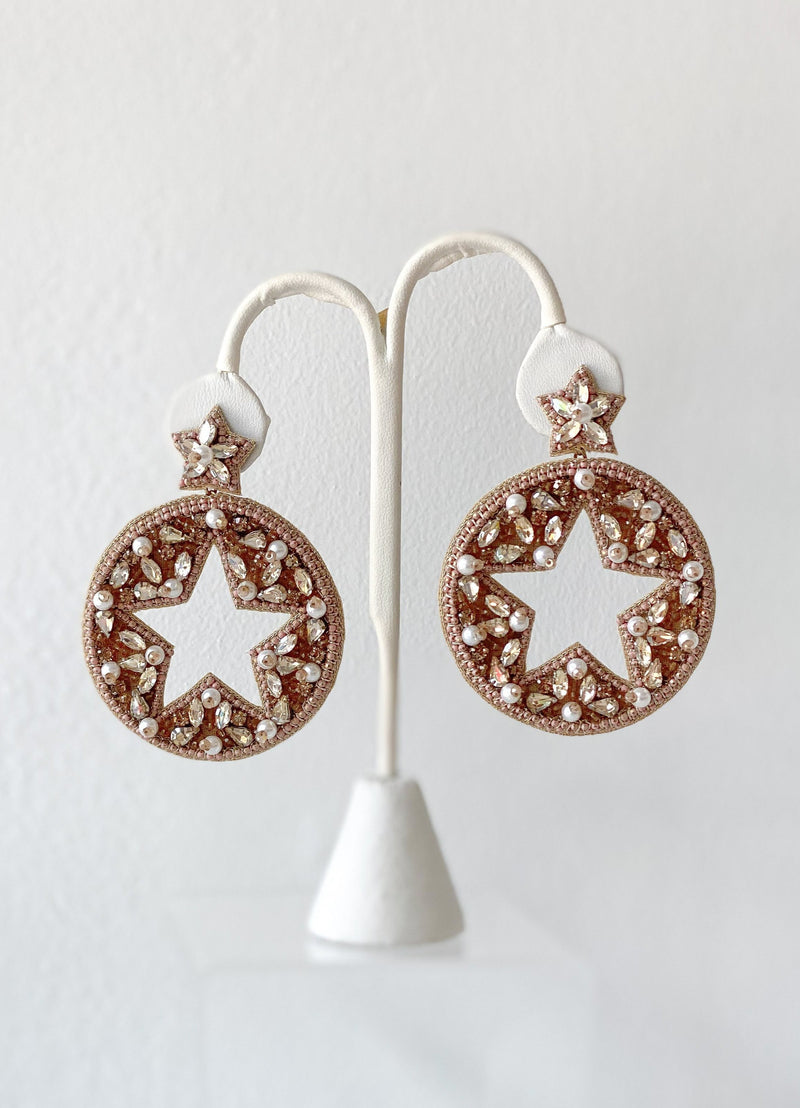 Round Star Earrings - Traveling Chic Boutique, VA