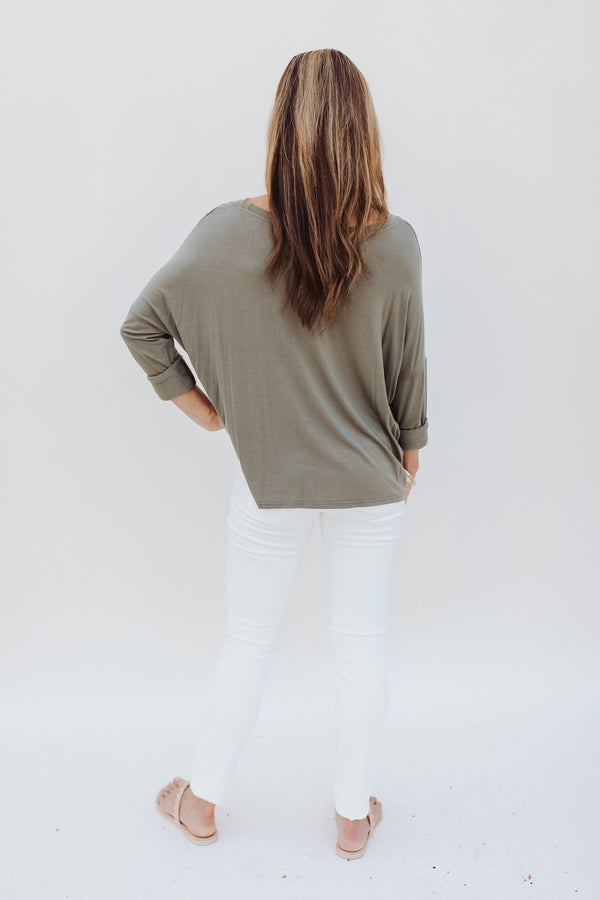 Long Sleeve Tee with Pocket