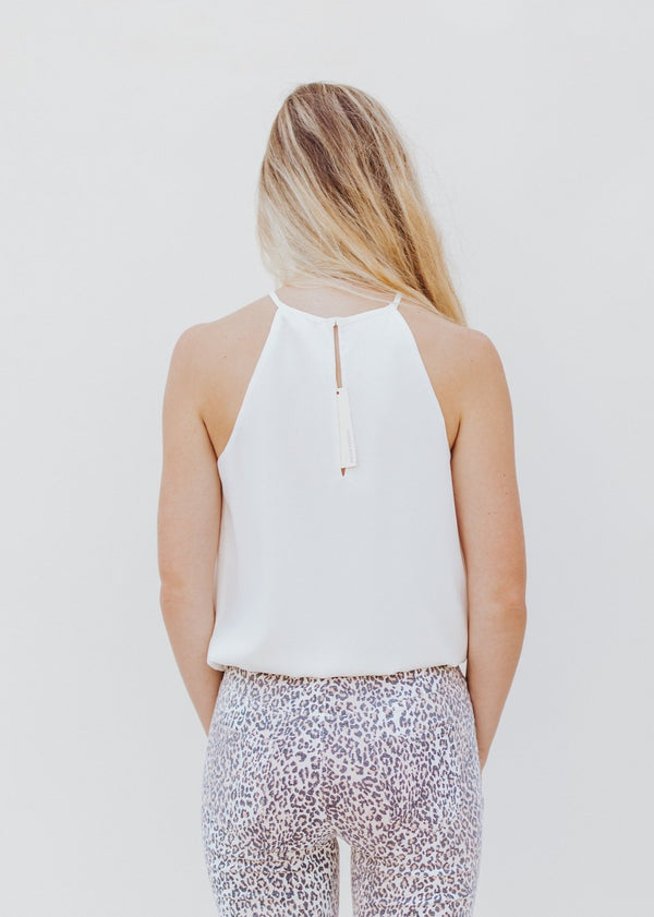 High Neck White Tank