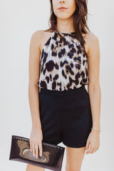 High Neck Leopard Tank