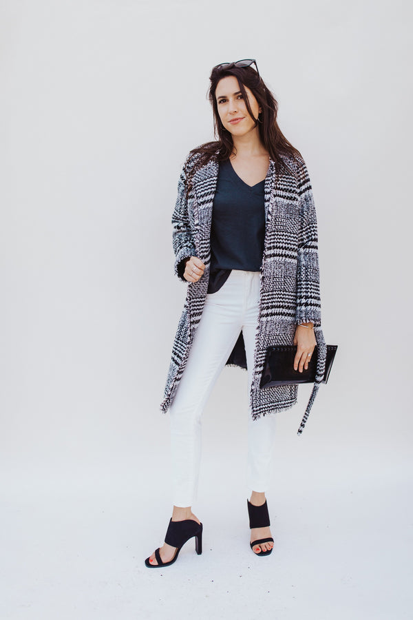 Brigitte Houndstooth Jacket - Traveling Chic Boutique, VA